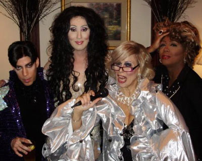 Holly as Cher with Joan Rivers & Kathy Griffith